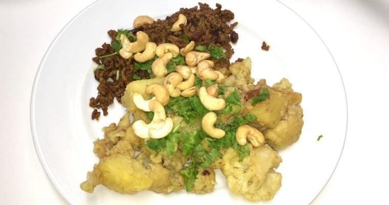 Indiase bloemkool met gehakt en appel
