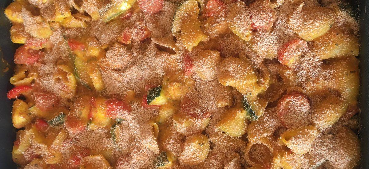 Macaroni-ovenschotel met kip en mozzarella