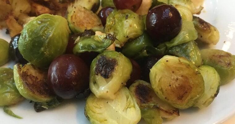 Geroosterde spruiten met druiven